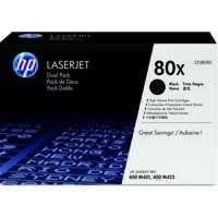 HP 80X LaserJet Toner Cartridge Black Twin Pack CF280XD