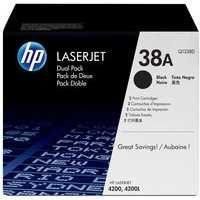 HP 38A Colour LaserJet Toner Cartridge Black Twin Pack Q1338D
