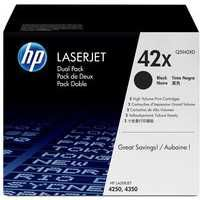 HP 42X LaserJet Toner Cartridge Black Twin Pack Q5942XD