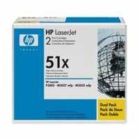 HP 51X LaserJet Toner Cartridge High Yield Black Twin Pack Q7551XD