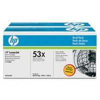 HP 53X LaserJet Toner Cartridge Black Twin Pack Q7553XD