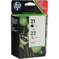 HP 21/22 Inkjet Cartridge Twin Pack Black/Colour SD367AE
