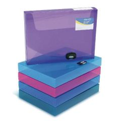 Rapesco A4 Rigid Boxfile 40mm Asstd Pk5