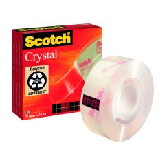 Scotch Crystal Tape 19mm x 33m Clear Glossy