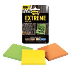Post-it Notes Extreme 76 x 76mm Assorted (3 Pack)