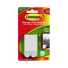3M Command Picture Hanging Strips Medium (4 Pack) 17201-4PK
