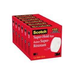 Scotch Super Hold Tape 19mm x 25.4m Pk6