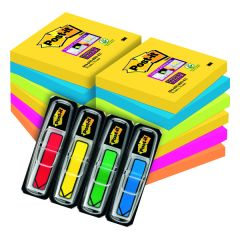 Post-it Notes Super Sticky 76 x 76mm Rio (6 Pack) Buy 2 Get FOC Bright Arrows 3M810110