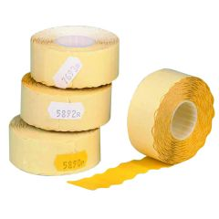 Avery Single-Line Price Marking Label Yellow 12x26mm (15000 Pack)