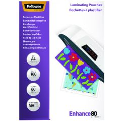 Fellowes A4 Enhance Matt 160 Micron Laminating Pouch Pk100