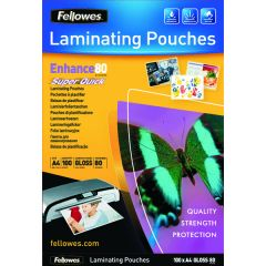 Fellowes Super Quick A4 Laminating Pouches 160 Micron Pk100