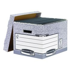 Bankers Box Storage Box Grey Standard (10 Pack)