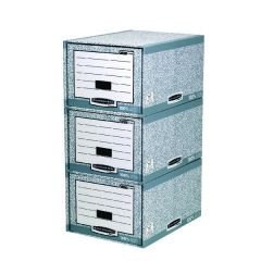 Fellowes Grey/White Storage Drawer Pk5