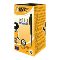 Bic M10 Clic Retractable Ballpoint Pen Medium Black Pk50