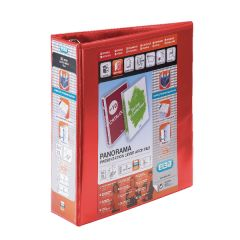 Elba Panorama 65mm 2 D-Ring Presentation Lever Arch File A4 Red (5 Pack) 400008437