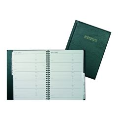 Collins Wirebound Business Address Book A5 Black