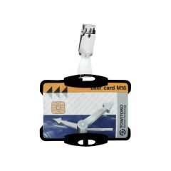 Durable Security Pass Holder Black (25 Pack)