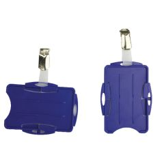 Durable Duo Security Pass Holder Blue (25 Pack)