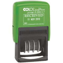 COLOP Green Line Text and Date Stamp RECEIVED