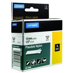 Dymo White Rhino Nylon Tape 12mm x 3.5m