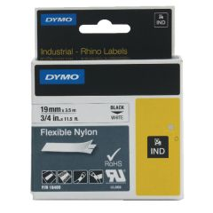 Dymo White Rhino Nylon Tape 19mm x 3.5m
