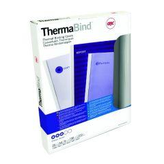 GBC LeatherGrain 1.5mm Royal Blue Thermal Binding Covers Pk100