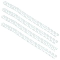 GBC WireBind 3:1 No4 6mm A4 White Binding Wires Pk100