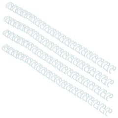 GBC WireBind 3:1 No5 8mm A4 White Binding Wires Pk100