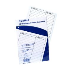 Guildhall Ruled Telephone Address Book Refill A5