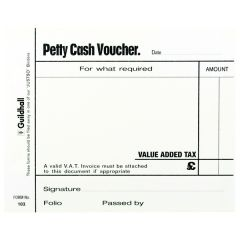 Guildhall Petty Cash Pad 100 Leaves Pk5