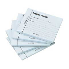 Guildhall Telephone Message Pad 100 Sheet Pk5