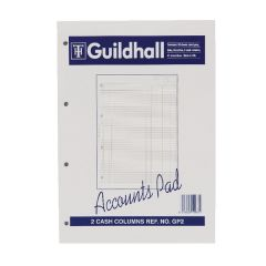 Guildhall 2-Column Cash Account Pad A4