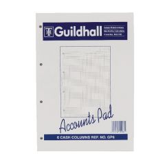 Guildhall 6-Column Cash Account Pad A4