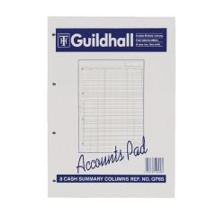 Guildhall Account Pad 8-Column Summary A4