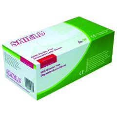 Shield Powder-Free Natural Latex Medium Gloves (100 Pack)