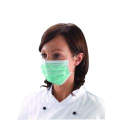Shield Non-Woven 3-Ply Green Disposable Face Mask (50 Pack)