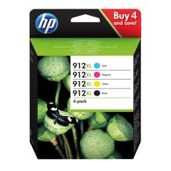 HP 912XL Ink Cartridge CMYK Black and Colour 3YP34AE
