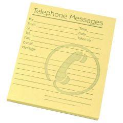 Challenge Telephone Message Pad Yellow Pk10
