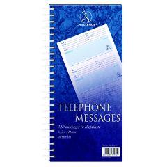 Challenge Wirebound Telephone Message Book