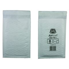 Jiffy AirKraft Bag Size 00 115x195mm White Pk100