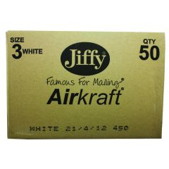 Jiffy AirKraft Bag Size 3 220x320mm White Pk50
