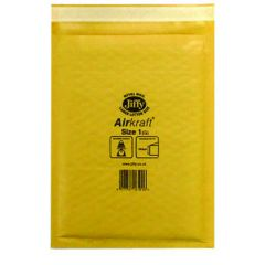Jiffy AirKraft Bag Size 1 170x245mm Gold Pk10