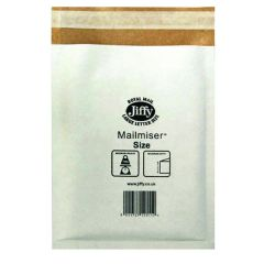 Jiffy Mailmiser Size 1 170x245mm White Pk10