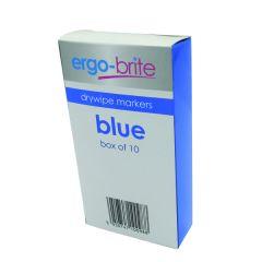 Ergo-Brite Blue Drywipe Marker Pk10