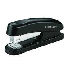 Q-Connect Half Strip Plastic Stapler Black