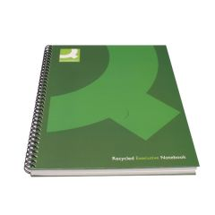 Q-Connect Recycled Wirebound Notebook A5 Green (3 Pack)