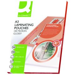 Q-Connect A3 Laminating Pouch 200 Micron Pk100