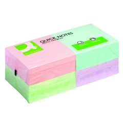 Q-Connect Quick Notes 76 x 76mm Pastel (12 Pack)