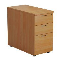 First Desk High 3 Drawer Pedestal 800mm Deep Beech