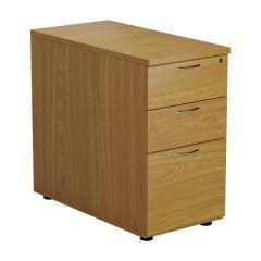 First Desk High 3 Drawer Pedestal 800mm Deep Nova Oak